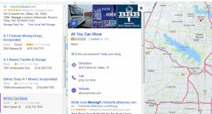 Yahoo local business map